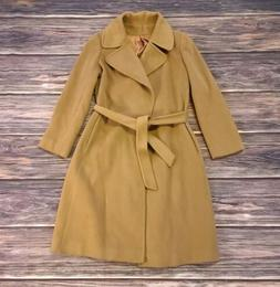 Vintage 80s 90s Amicale 100% Cashmere Overcoat Camel Brown s