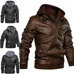 Anarchist Leather Premium Windproof Jacket Hooded Motorcycle
