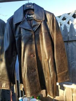 Schott NYC Antique Leather car coat NWT MADE IN USA  Large N