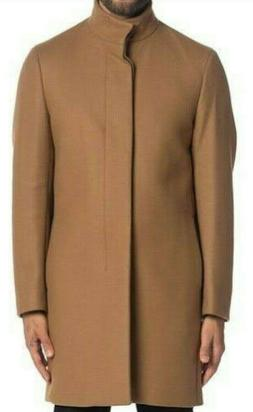 Theory Belvin Modus Melton Wool-Cashmere Blend Top-Coat Came
