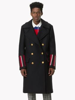 TOMMY HILFIGER COLLECTION RUNWAY MILITARY COAT MADE IN ITALY