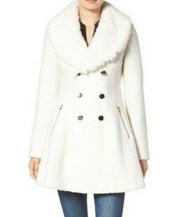 Guess Faux-Fur-Collar Skirted Coat MSRP $275 Size XL # 18A 3