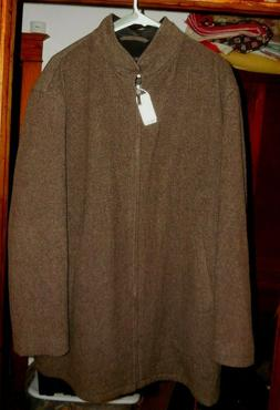 Jos. A. Bank Men's Brown Overcoat Size Large 100% Wool NEW W