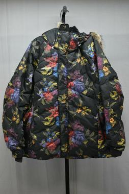 Columbia Lay D Down II Jacket, Women's Size 3X, Black Floral
