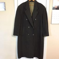 Lord & Taylor Vintage Lined Wool / Cashmere Overcoat, Herrin