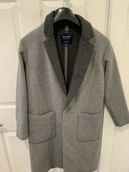Madewell Woll Grey Oversized Double- Breasted Coat Sz Xs $29