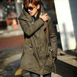 Men Outdoor Warm Long Hooded Jacket Tactical Winter Coat Out