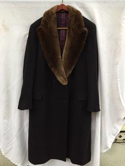 The Andover Shop Men's Double-Breasted Wool Overcoat With Fa
