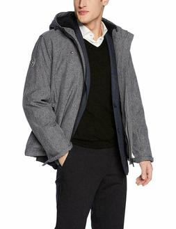 Men's Performance Hooded Open Bottom Jacket with Bunny Sherp