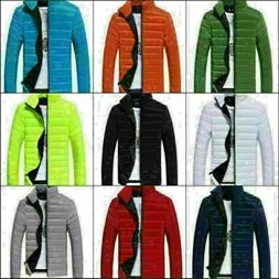 Men Winter Warm Zipper Casual Hooded Thick Jacket Slim Fit O