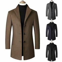 Men Winter Thicken Business Long Trench Coat Jacket Formal O