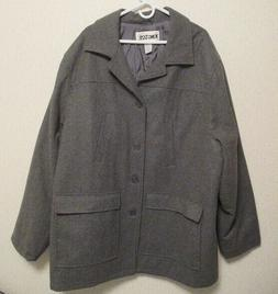 Mens KING SIZE Gray Wool Blend Coat Overcoat Size 3XL New Wi