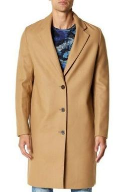 Vince Mid-Length Solid Wool Cashmere Overcoat - Camel / Tan