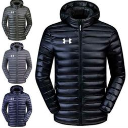 New Men's Under Armour Down Jacket Winter Thick Coat Hooded