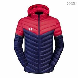 New Men's Under Armour Jacket Winter Thick Coat Hooded Warm