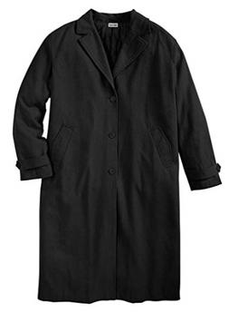 NWT MEN PLUS SIZE BIG AND TALL Wool-Blend Long Overcoat  2XL