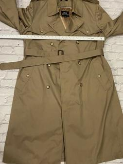 Stafford Overcoat Double Breasted Lined Men's 44 Long Trench