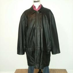 KING SIZE FOR TALL & BIG MEN 3XL TALL BLACK  LEATHER JACKET/