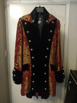 Vintage 90s Shrine of Hollywood Red Gold Black Gothic Pirate