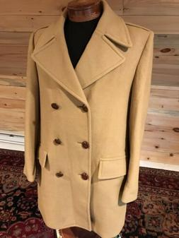 Vintage Zero King Pure Wool Tan Double Breasted 3/4 Length O