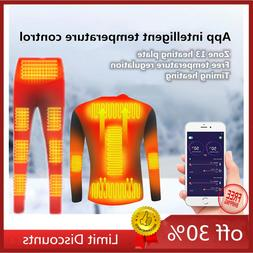 Winter Electric Heating Underwear Smartphone Thermal Control