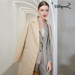 Womens long coat with pockets, and cotton inside for winter