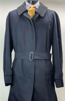 Burberry London Wool Camel Hair Belted Overcoat Trench Coat