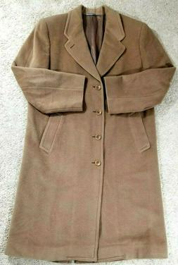 Canali Wool Tan Brown Overcoat Coat Mens Size 50R Italy for